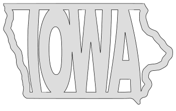 Iowa map outline shape state stencil clip art scroll saw pattern printable downloadable free template, laser cutting, vector graphic.