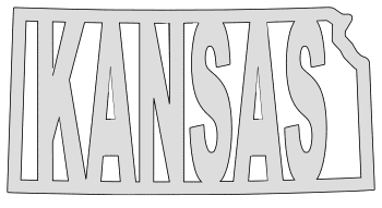 Kansas map outline shape state stencil clip art scroll saw pattern printable downloadable free template, laser cutting, vector graphic.
