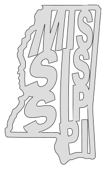 Mississippi map outline shape state stencil clip art scroll saw pattern printable downloadable free template, laser cutting, vector graphic.