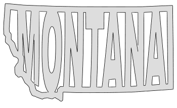 Montana map outline shape state stencil clip art scroll saw pattern printable downloadable free template, laser cutting, vector graphic.