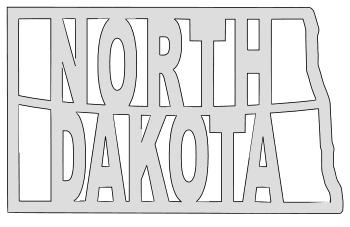 North Dakota map outline shape state stencil clip art scroll saw pattern printable downloadable free template, laser cutting, vector graphic.