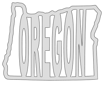 Oregon map outline shape state stencil clip art scroll saw pattern printable downloadable free template, laser cutting, vector graphic.