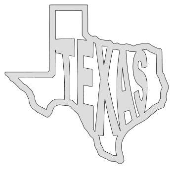 Texas map outline shape state stencil clip art scroll saw pattern printable downloadable free template, laser cutting, vector graphic.