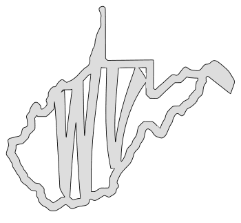 West Virginia map outline shape state stencil clip art scroll saw pattern printable downloadable free template, laser cutting, vector graphic.