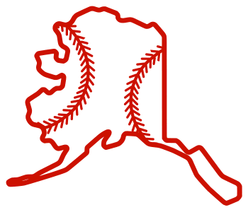Free Alaska outline with baseball stitches or softball stitches, cricut or Silhouette design, vector image, pattern, map shape cutting file.