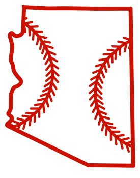 Free Arizona outline with baseball stitches or softball stitches, cricut or Silhouette design, vector image, pattern, map shape cutting file.