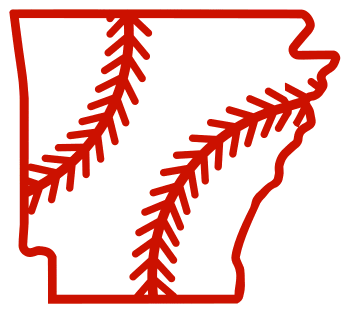 Free Arkansas outline with baseball stitches or softball stitches, cricut or Silhouette design, vector image, pattern, map shape cutting file.