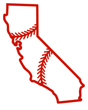 Free California outline with baseball stitches or softball stitches, cricut or Silhouette design, vector image, pattern, map shape cutting file.