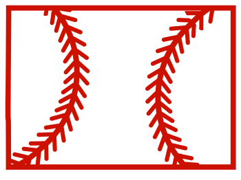 Free Colorado outline with baseball stitches or softball stitches, cricut or Silhouette design, vector image, pattern, map shape cutting file.
