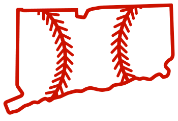 Free Connecticut outline with baseball stitches or softball stitches, cricut or Silhouette design, vector image, pattern, map shape cutting file.