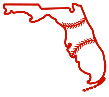 Free Florida outline with baseball stitches or softball stitches, cricut or Silhouette design, vector image, pattern, map shape cutting file.