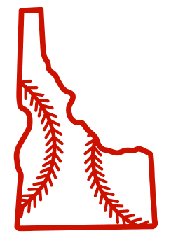 Free Idaho outline with baseball stitches or softball stitches, cricut or Silhouette design, vector image, pattern, map shape cutting file.