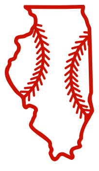 Free Illinois outline with baseball stitches or softball stitches, cricut or Silhouette design, vector image, pattern, map shape cutting file.