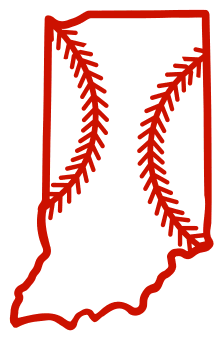 Free Indiana outline with baseball stitches or softball stitches, cricut or Silhouette design, vector image, pattern, map shape cutting file.