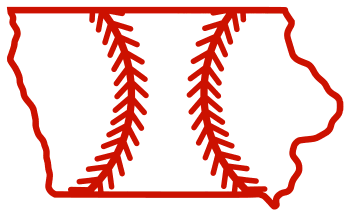 Free Iowa outline with baseball stitches or softball stitches, cricut or Silhouette design, vector image, pattern, map shape cutting file.