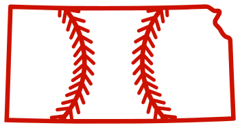 Free Kansas outline with baseball stitches or softball stitches, cricut or Silhouette design, vector image, pattern, map shape cutting file.