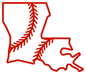 Free Louisiana outline with baseball stitches or softball stitches, cricut or Silhouette design, vector image, pattern, map shape cutting file.