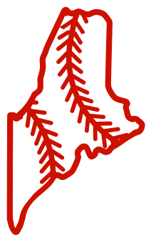 Free Maine outline with baseball stitches or softball stitches, cricut or Silhouette design, vector image, pattern, map shape cutting file.