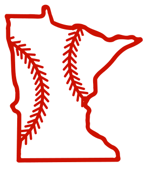 Free Minnesota outline with baseball stitches or softball stitches, cricut or Silhouette design, vector image, pattern, map shape cutting file.