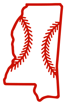 Free Mississippi outline with baseball stitches or softball stitches, cricut or Silhouette design, vector image, pattern, map shape cutting file.