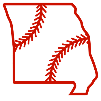 Free Missouri outline with baseball stitches or softball stitches, cricut or Silhouette design, vector image, pattern, map shape cutting file.