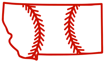 Free Montana outline with baseball stitches or softball stitches, cricut or Silhouette design, vector image, pattern, map shape cutting file.