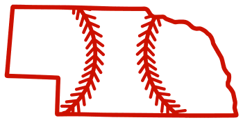 Free Nebraska outline with baseball stitches or softball stitches, cricut or Silhouette design, vector image, pattern, map shape cutting file.