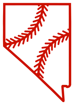Free Nevada outline with baseball stitches or softball stitches, cricut or Silhouette design, vector image, pattern, map shape cutting file.
