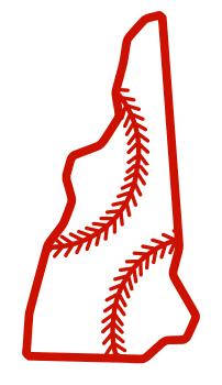 Free New Hampshire outline with baseball stitches or softball stitches, cricut or Silhouette design, vector image, pattern, map shape cutting file.