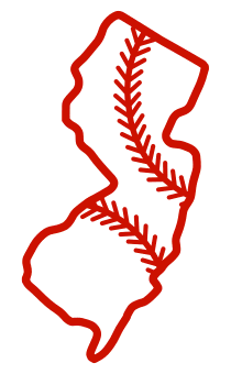 Free New Jersey outline with baseball stitches or softball stitches, cricut or Silhouette design, vector image, pattern, map shape cutting file.