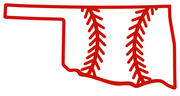 Free Oklahoma outline with baseball stitches or softball stitches, cricut or Silhouette design, vector image, pattern, map shape cutting file.