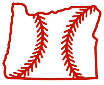 Free Oregon outline with baseball stitches or softball stitches, cricut or Silhouette design, vector image, pattern, map shape cutting file.