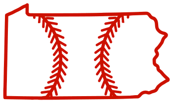Free Pennsylvania outline with baseball stitches or softball stitches, cricut or Silhouette design, vector image, pattern, map shape cutting file.