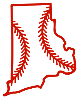 Free Rhode Island outline with baseball stitches or softball stitches, cricut or Silhouette design, vector image, pattern, map shape cutting file.