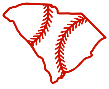 Free South Carolina outline with baseball stitches or softball stitches, cricut or Silhouette design, vector image, pattern, map shape cutting file.