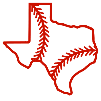 Free Texas outline with baseball stitches or softball stitches, cricut or Silhouette design, vector image, pattern, map shape cutting file.