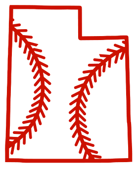 Free Utah outline with baseball stitches or softball stitches, cricut or Silhouette design, vector image, pattern, map shape cutting file.