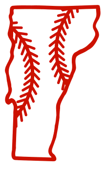 Free Vermont outline with baseball stitches or softball stitches, cricut or Silhouette design, vector image, pattern, map shape cutting file.