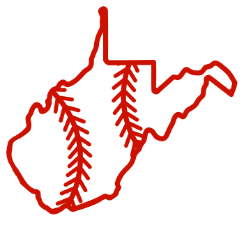 Free West Virginia outline with baseball stitches or softball stitches, cricut or Silhouette design, vector image, pattern, map shape cutting file.