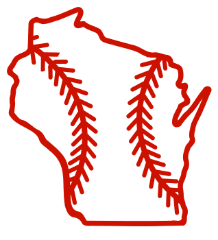 Free Wisconsin outline with baseball stitches or softball stitches, cricut or Silhouette design, vector image, pattern, map shape cutting file.