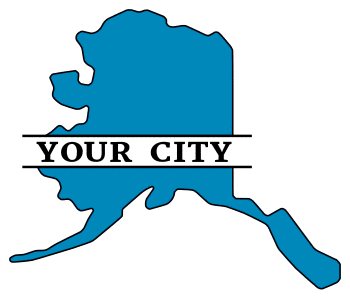 Free printable Alaska split monogram.  Personalize with your city, town, or customized text. Great for t-shirts, DIY projects, cricut, silhouette, and other cutting machines. Add your own letters and numbers.