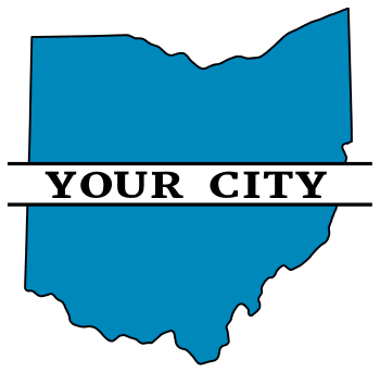 Free printable Ohio split monogram.  Personalize with your city, town, or customized text. Great for t-shirts, DIY projects, cricut, silhouette, and other cutting machines. Add your own letters and numbers.