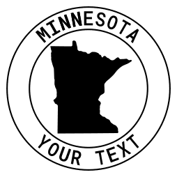Minnesota map outline shape state with text in a circle stencil clip art pattern print download cricut or silhouette design free template, cutting file.