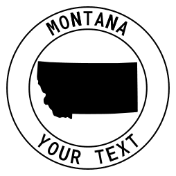 Montana Outline State Stencil USA Stencil Montana Stencil