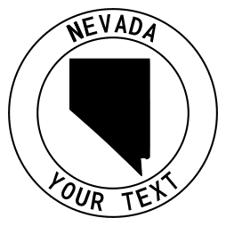 Nevada map outline shape state with text in a circle stencil clip art pattern print download cricut or silhouette design free template, cutting file.