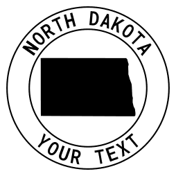 North Dakota map outline shape state with text in a circle stencil clip art pattern print download cricut or silhouette design free template, cutting file.