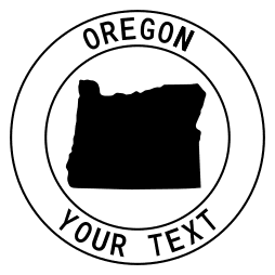 Oregon map outline shape state with text in a circle stencil clip art pattern print download cricut or silhouette design free template, cutting file.