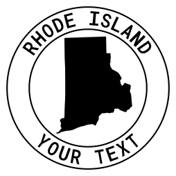 Rhode Island map outline shape state with text in a circle stencil clip art pattern print download cricut or silhouette design free template, cutting file.
