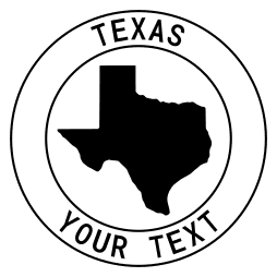 Texas map outline shape state with text in a circle stencil clip art pattern print download cricut or silhouette design free template, cutting file.