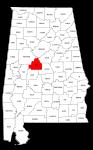 Map of Alabama highlighting Bibb county, pattern, stencil, template, svg.